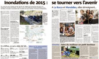 Inondations de 2015 en chiffres : ce qui a déjà été fait... se tourner vers l'avenir