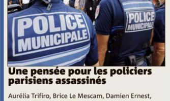 Une pensée pour les policiers parisiens assassinés