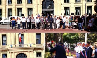 Cérémonie d'hommage aux victimes des intempéries du 3 octobre 2015