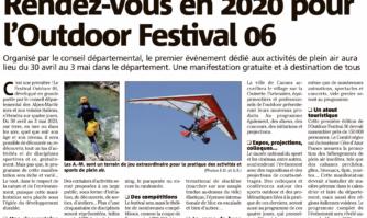 Rendez-vous en 2020 pour l'Outdoor Festival 06