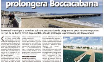 Le ponton de la Darse prolongera Boccacabana