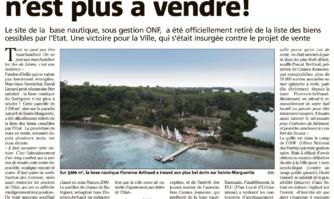 La mobilisation a payé : la base nautique de l'île Sainte-Marguerite n'est plus à vendre !