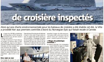 Respect des engagements : un bateau de croisière inspecté à Cannes