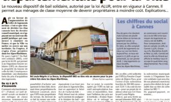 Logement social : première départementale pour Cannes