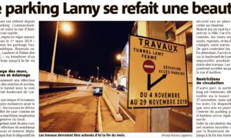Le parking Lamy se refait une beauté