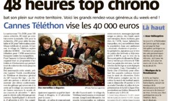 48 heures top chrono, Cannes Téléthon vise les 40 000 euros