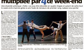 La création chorégraphique multipliée par 4 à Cannes lors du Festival de Danse Cannes Côte d'Azur France