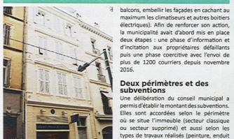 Des subventions pour les façades