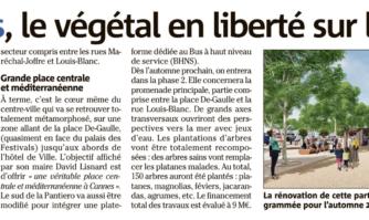 À Cannes, le végétal en liberté sur les Allées
