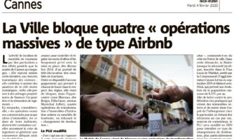 La Ville bloque quatre opérations massives de type Airbnb