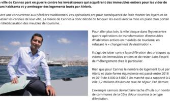 Pourquoi Cannes bloque quatre grosses opérations Airbnb