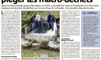 """Un filet pour """"piéger les macro-déchets"""" installé à la Frayère"""