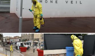 Covid-19 : grande opération de désinfection méthodique des espaces publics