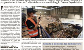 Les collectes de déchets reprendront début mai à Cannes