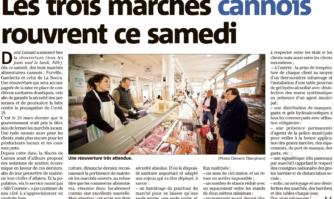 Trois marchés de Cannes rouvrent ce samedi avec des conditions sanitaires drastiques