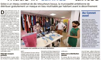 """La première manufacture en réseau de masques """"made in Cannes"""" lancée."""