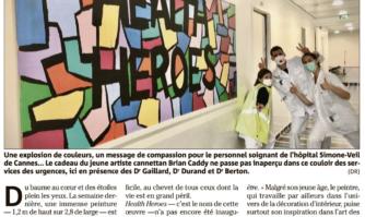Brian Caddy offre sa toile aux soignants