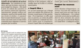 À Cannes, les enfants des caissiers accueillis par le service municipal depuis lundi