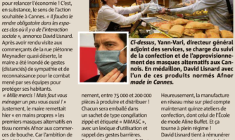 La Mairie de Cannes a distribué ses premiers masques aux commerçants