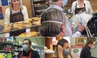 Distribution de masques alternatifs « Made in Cannes » aux commerçants cannois