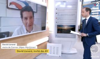 David Lisnard était l'invité des 4 vérités pour une interview sur la gestion de la crise sanitaire à Cannes