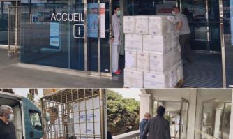 Nouvelle dotation de surblouses et masques pour l'Hôpital de Cannes