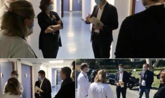 Aux côtés du personnel soignant de la polyclinique Oxford qui accueille les activités de soins de l'Hôpital de Cannes Simone Veil pleinement mobilisé pour lutter contre le coronavirus Covid-19