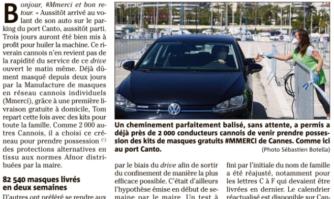 """À Cannes, les """"drives masques"""" plébiscités par les habitants"""