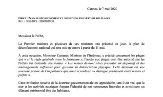 Accès aux plages : les maires des 3 villes littorales de l'agglomération Cannes Lérins ont écrit au Préfet