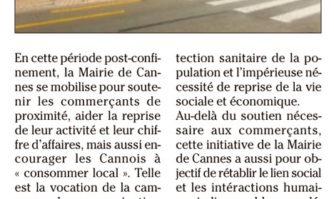 Cannes affiche son soutien aux commerçants