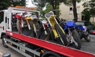 Rodéos urbains : David Lisnard fait renforcer les contrôles huit motocross et un quad non homologués saisis
