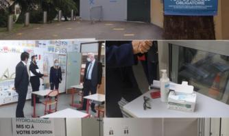 David Lisnard a présenté lundi le dispositif cannois d'accueil sanitaire et sécurisé mis en place par la Mairie de Cannes