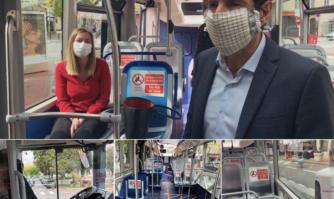 Montée en charge du réseau de bus avec renforcement des mesures sanitaires et civiques