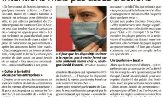 Plan de l'État pour sauver le Tourisme : pour le Maire de Cannes, de bonnes intentions mais pas assez d'actions