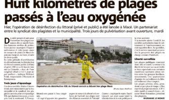 Huit kilomètres de plages passés à l'eau oxygénée