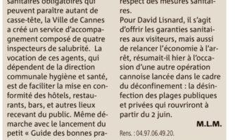 Cannes : des inspecteurs de salubrité pour aider les professionnels de la restauration