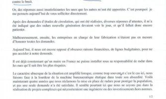 Après plusieurs sollicitations infructueuses, David Lisnard s'adresse directement au ministre de l'Intérieur pour obtenir des radars fixes verbalisateurs sur les voies accidentogènes et bruyantes de Cannes
