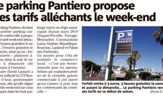 Le parking Pantiero propose des tarifs alléchants le week-end