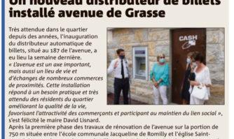 Un nouveau distributeur de billets avenue de Grasse