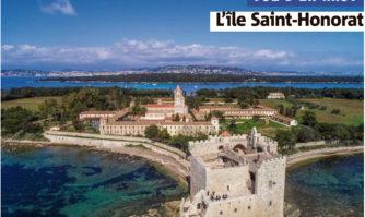 Vue d'en haut : l'île Saint-Honorat