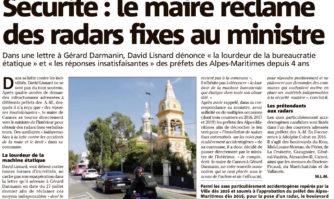 Sécurité : le maire réclame des radars fixes au ministre