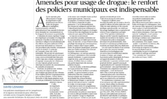Amendes pour usage de drogue : le renfort des policiers municipaux est indispensables