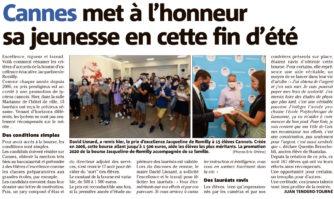 Cannes met à l'honneur sa jeunesse en cette fin d'été