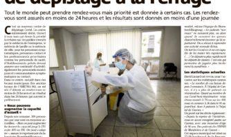 Covid : un nouveau centre de dépistage à la Ferrage