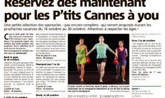 Réservez dès maintenant pour les P'tits Cannes à you