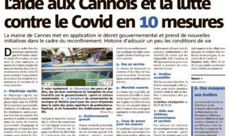 L'aide aux Cannois et la lutte contre le Covid en 10 mesures