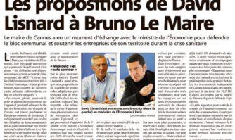 Les propositions de David Lisnard à Bruno Le Maire