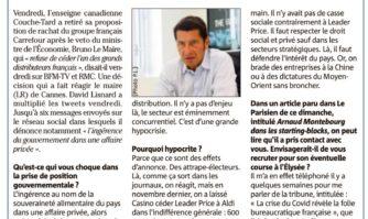 """Veto du gouvernement au rachat de Carrefour : """"Une grande hypocrisie"""""""