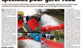 Inondations : des barrières spéciales pour gérer l'eau