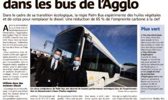 Des biocarburants testés dans les bus de l'Agglo
